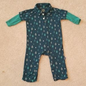 Kickee Pants 0-3M boy layered playsuit